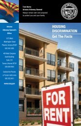 HOUSING DISCRIMINATION Get The Facts - Arizona Attorney General