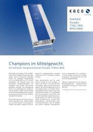 Champions im Mittelgewicht. - Vario green energy Concept GmbH
