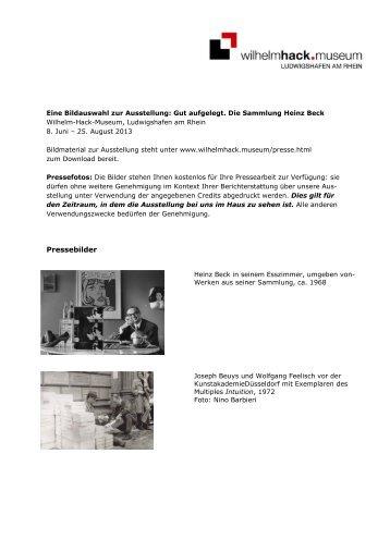 Bildcredits_Gut aufgelegt - Wilhelm-Hack-Museum