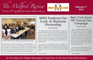 MHS Students Get Look At Business Ownership - Milford LIVE!
