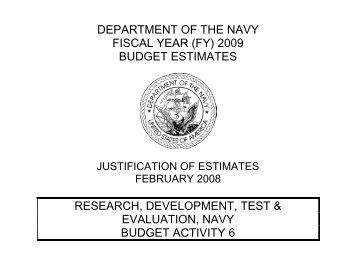 Research, Development, Test and - DON FM&C Website - U.S. Navy