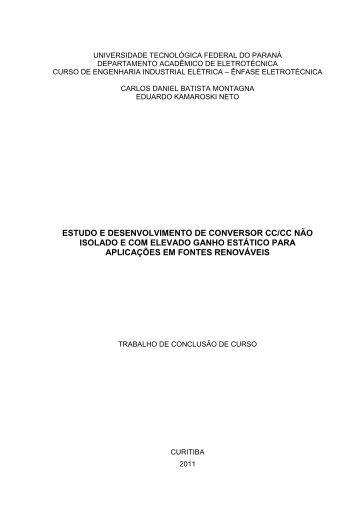 ESTUDO E DESENVOLVIMENTO DE ... - NUPET - UTFPR