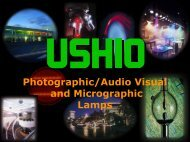 Photographic/Audio Visual and Micrographic Lamps