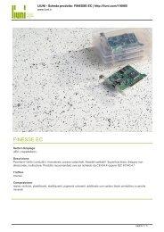 Scarica la scheda tecnica della linea prodotto FINESSE EC - Infobuild