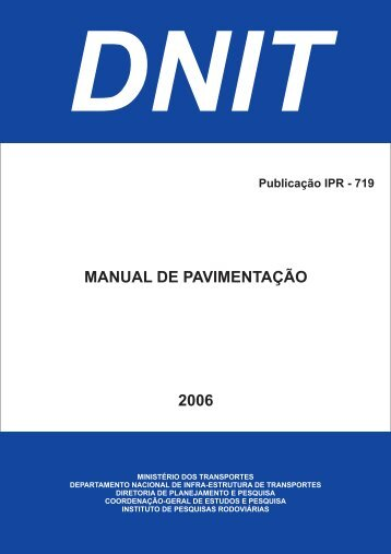 MANUAL DE PAVIMENTAÇÃO 2006 - Dnit