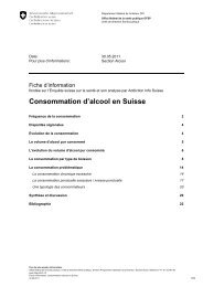 Consommation d'alcool en Suisse - admin.ch