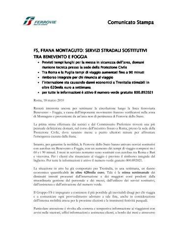 Comunicato Stampa Comunicato Stampa - Ferrovie dello Stato ...