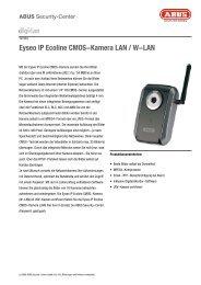 Eyseo IP Ecoline CMOS-Kamera LAN / W-LAN