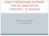 forest programme (support for the ministry of forestry) – fc module