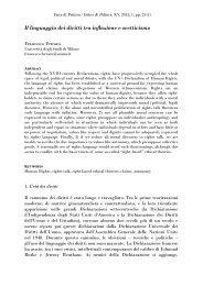 Il linguaggio dei diritti tra inflazione e scetticismo - Università degli ...
