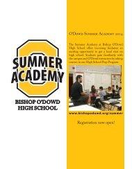 Summer Academy High School Prep Information Brochure