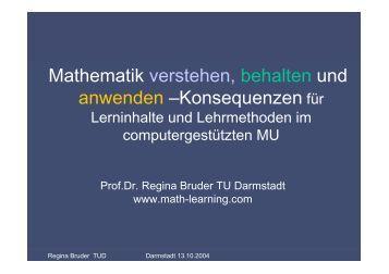 Mathematik verstehen, behalten und anwenden ... - math-learning