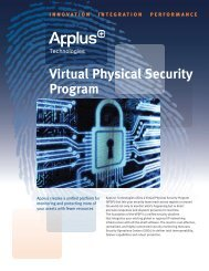 Virtual Physical Security Program - Applus Technologies