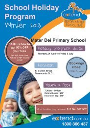 Winter 2013 - Extend, Before and After School Care