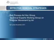 EFFECTIVE REMOVAL STRATEGIES Bali Process Ad Hoc Group ...