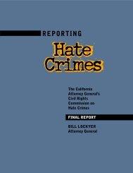 hate crimes report /PDF - Attorney General