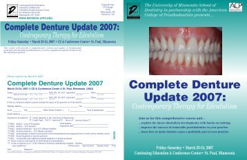 Complete Denture Update 2007 - American College of Prosthodontists