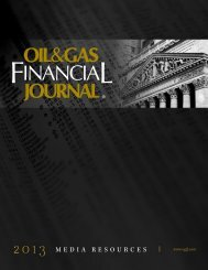 2013 MEDIA RESOURCES - Oil & Gas Financial Journal