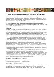 2010 - Nederlandsch Economisch-Historisch Archief