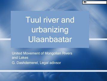 Tuul river and urbanizing Ulaanbaatar