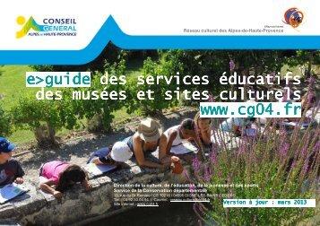 Guide des services éducatifs - Alpes-de-Haute-Provence