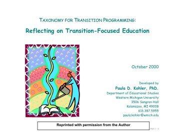 Taxonomy for Transition Programming - Alaska Works Initiative