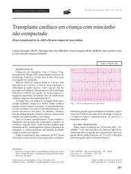 mais... - Sociedade Brasileira de Cirurgia Cardiovascular