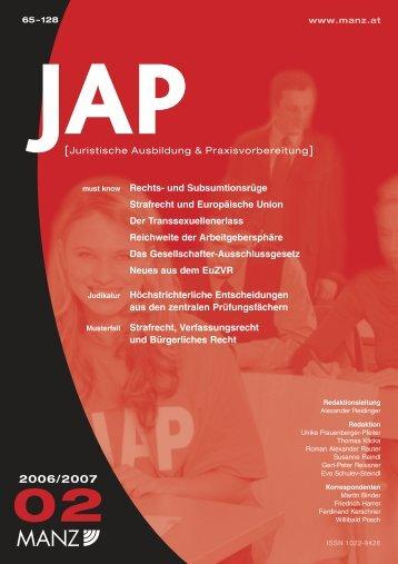 JAP 2006/2007/11, 68–72 - Universität Wien