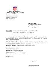 Izvješće o radu Župana Splitsko-dalmatinske županije za razdoblje ...