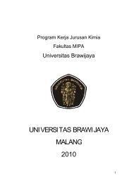 Program Kerja Jurusan Kimia UB - Universitas Brawijaya