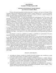 Reciclarea şi perfecţionarea cadrelor didactice ale UTM şi ale ...