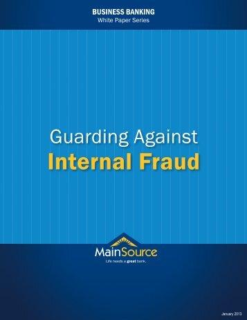 Internal Fraud - MainSource Bank