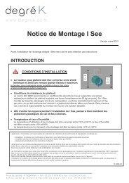 Notice de Montage I See - Degré K