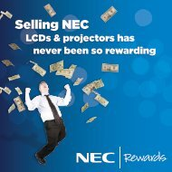 Selling NEC - NEC Display Solutions