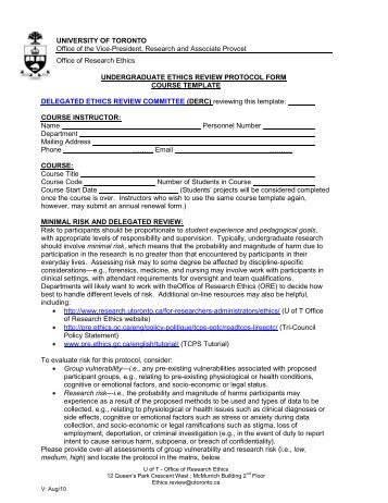 Abbreviated summary protocol form zero anthropology project for Project protocol template