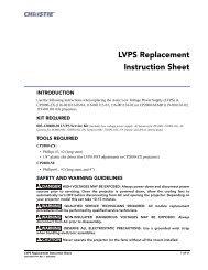 020-100377-01_LIT INST SHT LVPS.fm - Christie Digital Systems