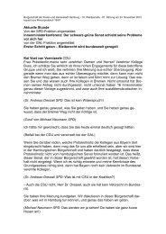 Aktuelle Stunde Von der SPD-Fraktion angemeldet - Politikschmiede