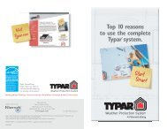 Top 10 reasons to use the complete Typar® system. - Huttig Building ...