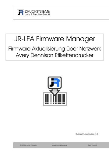 JR-LEA Firmware Manager