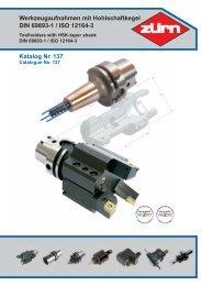 Werkzeugaufnahmen mit Hohlschaftkegel DIN 69893-1 ... - ToolSpann