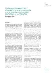 Conceptos Generales del Mejoramiento Genético Forestal y su ...