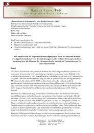 MARCUS KLEIN , PH D - Lehrstuhl für Internationale Politik und ...