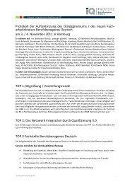 Protokoll November 2011 - Deutsch am Arbeitsplatz