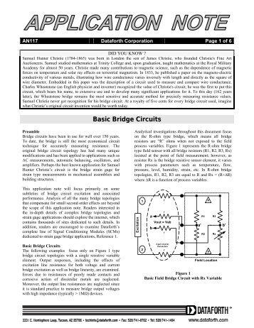 Basic Bridge Circuits - Scientific Devices Australia
