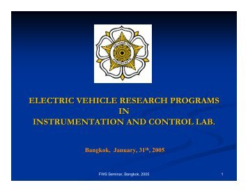 electric vehicle research programs in instrumentation and control lab.