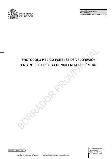 PROTOCOLO MEDICO-FORENSE DE VALORACIÓN ... - Matrix666