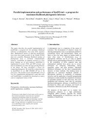 Parallel implementation of maximum likelihood ... - CiteSeer