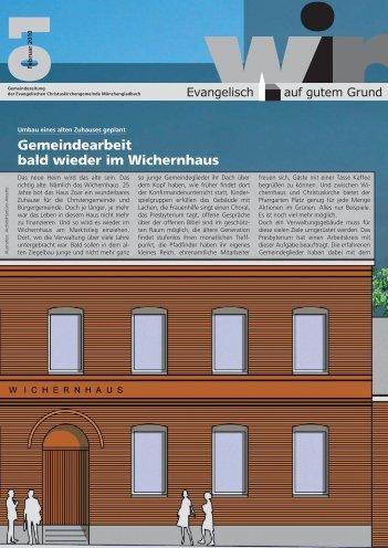 Gemeindearbeit bald wieder im Wichernhaus - EKIMG