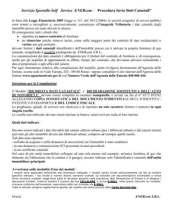 Servizio di documentazione tributaria - Enercom