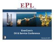 Enercom's Oil & Service Conference